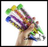 Bundle of Fun Pens with Different Compounds - Water Bead/Moving Fluff- Filled Motion Pen - Filled with Moving Stuff - Soothing and Calming Motion Pen - Liquid Timer Sensory Office Toy - Visual Stimulation