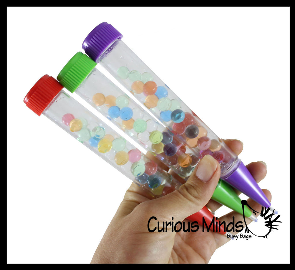 Water Bead Filled Motion Pen - Filled with Moving Stuff - Soothing and Calming Motion Pen - Liquid Timer Sensory Office Toy - Visual Stimulation