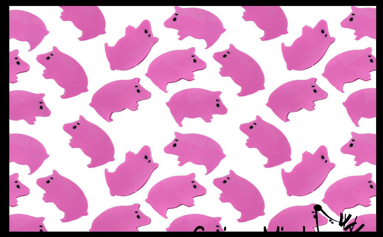 144 (12 Dozen) Pig Mini Erasers - Farm Novelty and Functional Adorable Eraser Novelty Treasure Prize, School Classroom Supply, Math Counters - Sorting - Party Favor