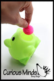 Toddler Busy Bag - Activity for 2 Year Old - Piggy Bank with Poms and Chips