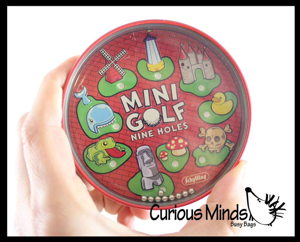 Tin BB Ball Maze Games -  Pill Maze Toys - Party Favors - Travel Toy - Ball Maze - Skill Balance