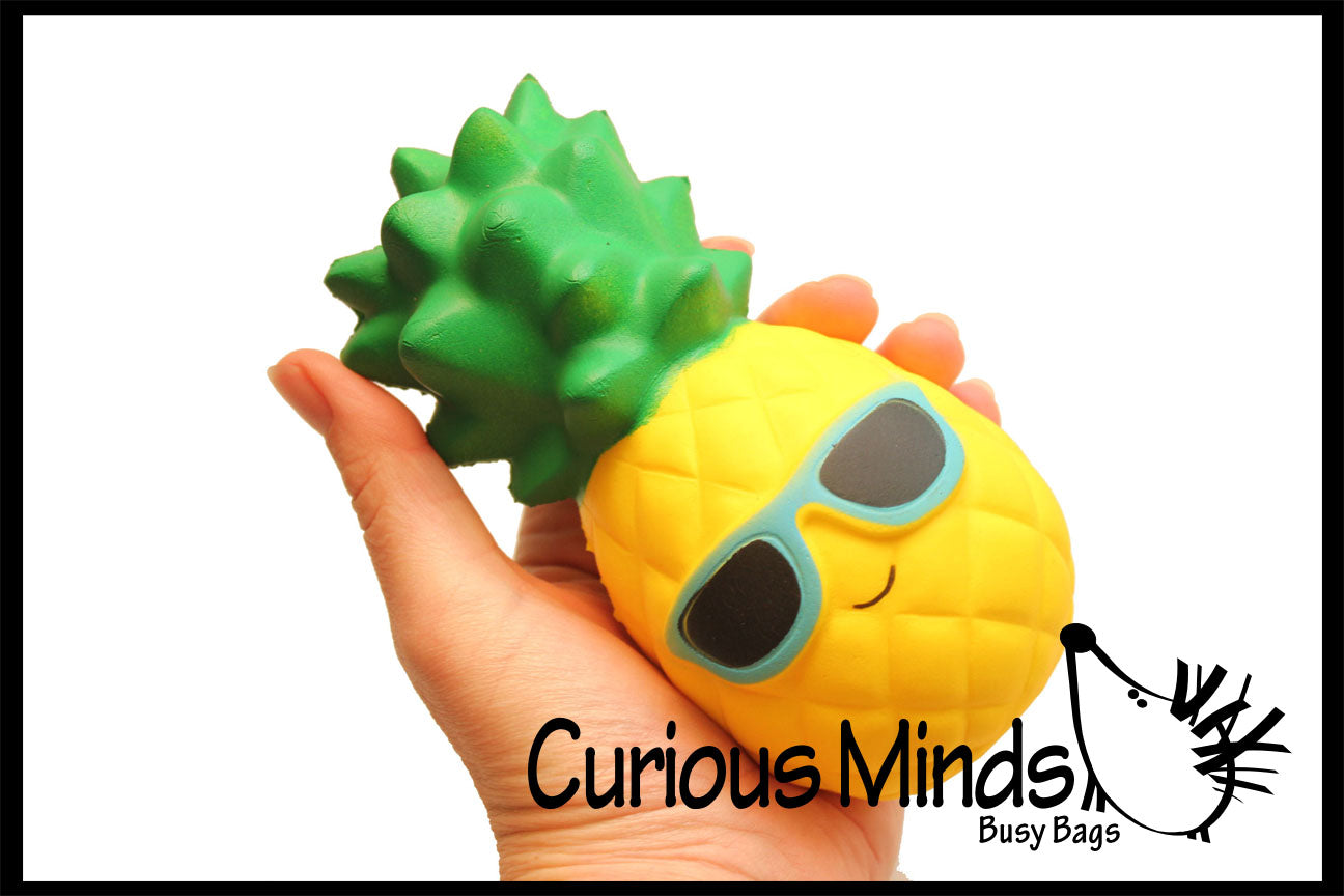 Squishy Slow Rise Pineapple  -  Sensory, Stress, Fidget Toy