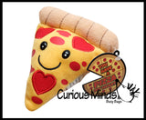 Plush Pizza Slice Valentine - Cute Unique Valentines Day Cards for Kids