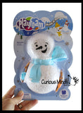 Playfoam Build a Snowman Set - Fake Snow Indoor Modelling Compound Dough for Sensory Play - Never Dries Out - Winter Fun