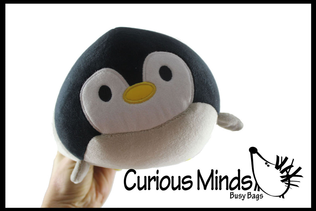Chubby Plush Penguin Stuffed Animal Toy - Soft Squishy Roll Animal