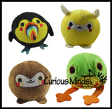 "3"" Plush Animal Squishy Slow Rise Foam Stuffed Animals-  Sensory, Stress, Fidget Toy"