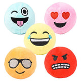 "2.75"" Plush Emoji Squishy Slow Rise Foam Stuffed Animals-  Sensory, Stress, Fidget Emotions Self Regulation Toy"
