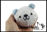 Jumbo Fabric Wrapped Polar Bear Bouncy Balls - Cute Winter Party Supplies Favor Set - Bouncing Ball