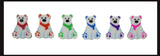 144 (12 Dozen) Polar Bear Mini Erasers - Novelty and Functional Adorable Eraser Novelty Treasure Prize, School Classroom Supply, Math Counters - Color Sorting - Party Favor