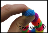 Mini Pom Puffer Hedge Ball Fidget Bracelet -  Sensory Fidget Toy