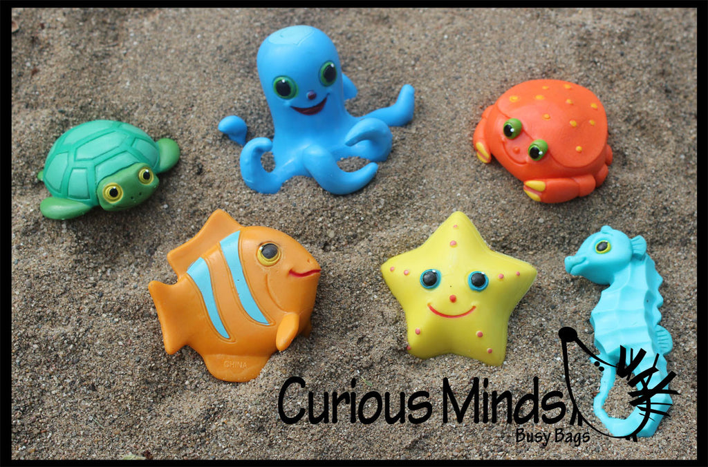 CLEARANCE - SALE - Sandbox Critters - Sea Creatures Pool and Sand Hunt Toy - Dig sift and find buried critters - Pool Dive