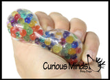 Water Bead Filled Rainbow Poop Squeeze Stress Ball  -  Poo Sensory, Stress, Fidget Toy