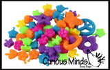 "Individual Bags of Neon Pop Beads - 34"" of Snap Together Beads - Kids Jewelry Kit Girls DIY Craft"
