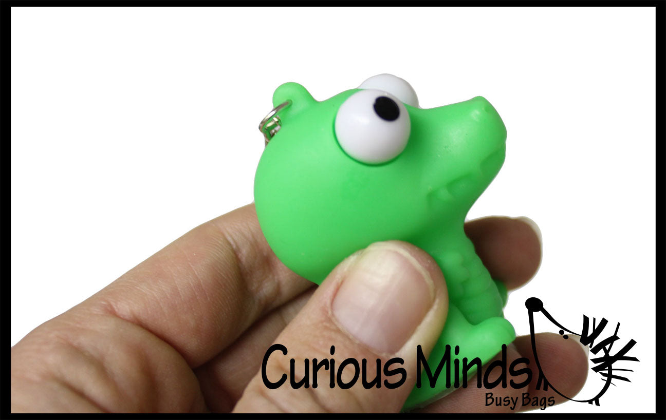 CLEARANCE - SALE - Animals With Pop-Eyes Novelty Key Chain  -  Sensory, Gag, Stress, Fidget Toy