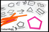 Making Shapes with Popsicle Sticks OR Plastic Snap Together Sticks