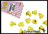 Popcorn Kernels Pencil Top Erasers - Novelty and Functional Adorable Eraser Novelty Treasure Prize, School Classroom Supply, Math Counters - Sorting - Party Favor, Pencil Topper