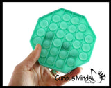 Bubble Pop Game - Silicone Push Poke Bubble Wrap Fidget Toy - Press Bubbles to Pop the Bubbles Down Then Flip it over and Do it Again - Bubble Popper Sensory Stress Toy