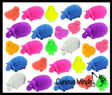 24 Puffer Sheep and Chick Air Filled Balls - Easter Basket Filler - Small Novelty Prize Toy - Party Favors - Gift - Bulk (2 Dozen)