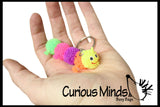 Mini Puffer Caterpillar Key Chain  -  Sensory, Stress, Fidget Toy
