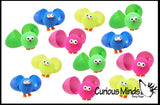 Puffer Chicks in Matching Colored Eggs - Puffer Ball -  Sensory Fidget Toy