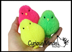 Puffer Chicks - Small Novelty Toy - Party Favors - Easter Gift - Bulk 1 Dozen