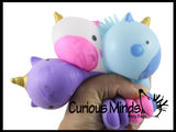 Puffer Unicorn Balls -  Cute Soft Air-Filled Hairy Sensory Fidget Toy