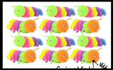 Large Puffer Caterpillar Fidget Sensory Toy - 5 Section Tactile Toy Bug