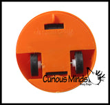 Jack o Lantern Pull Back Racer Toy - Moving Pumpkin Car - Fun Novelty Toy - Party Favors - Halloween