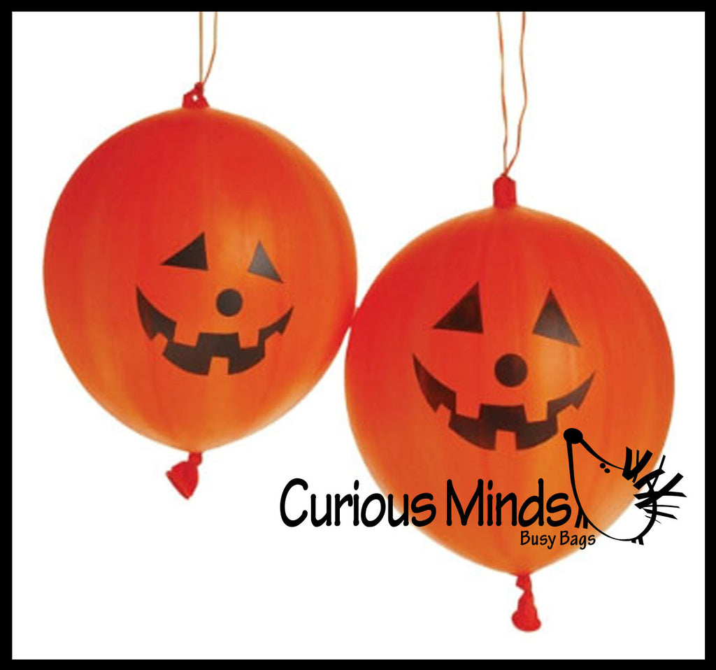 Halloween Punch Balloons - Jack o Lantern - Punch Ball - Novelty Toy - Party Favor - Trick or Treat Prize