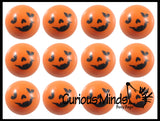 48 Piece Pumpkin Jack-O-Lantern Halloween Party Favor Set - Pumpkin Springs, Sticky Pumpkins, Punch Balloons, Pull Back Racers - Small Novelty Toy Prize Assortment Gifts (4 Dozen)