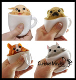 Pup in a Cup - Adorable Pop Up Pupachino - Cute Squeeze Toy - Fun Fidget - Unique OT Hand Strength, Fine Motor