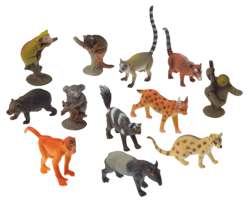 Miniature Rainforest Animal Figurines Replicas