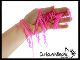 "5 Ramen Stretchy Noodle Strings Fidget Toy - 13"" Long, Not Sticky, Thick, Build Resistance for Strengthening Exercise, Pull, Stretchy, Fiddle Nee Doh"