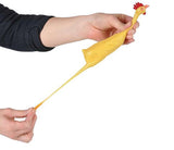 "Large 8"" Stretchy Rubber Chicken Stretch Toy Fidget - Novelty Toy"