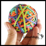 Rubber Band Ball - Fun Bouncy Ball - Hand Strengthening Fine Motor Toy - OT - Bright Neon Colors