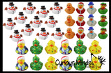 36 Rubber Duckie Christmas Bundle Set - Ducks - Cute Holiday Party Favor Decoration Gifts (3 Dozen)