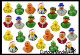 24 Rubber Duckie Christmas Bundle Set - Ducks - Cute Holiday Party Favor Decoration Gifts (2 Dozen)