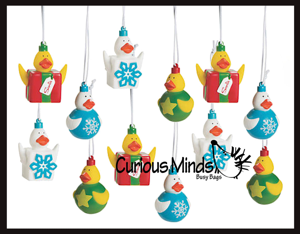 Rubber Duckie Christmas Ornaments - Ducks - Cute Holiday Party Favor Decoration Gifts