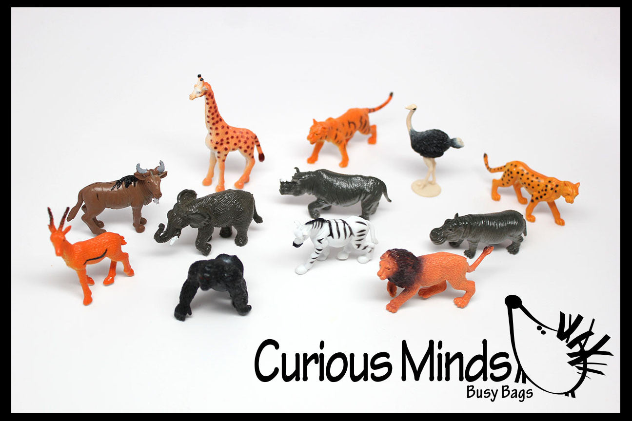 Safari Animal Figurines Mini Animal Action Figures