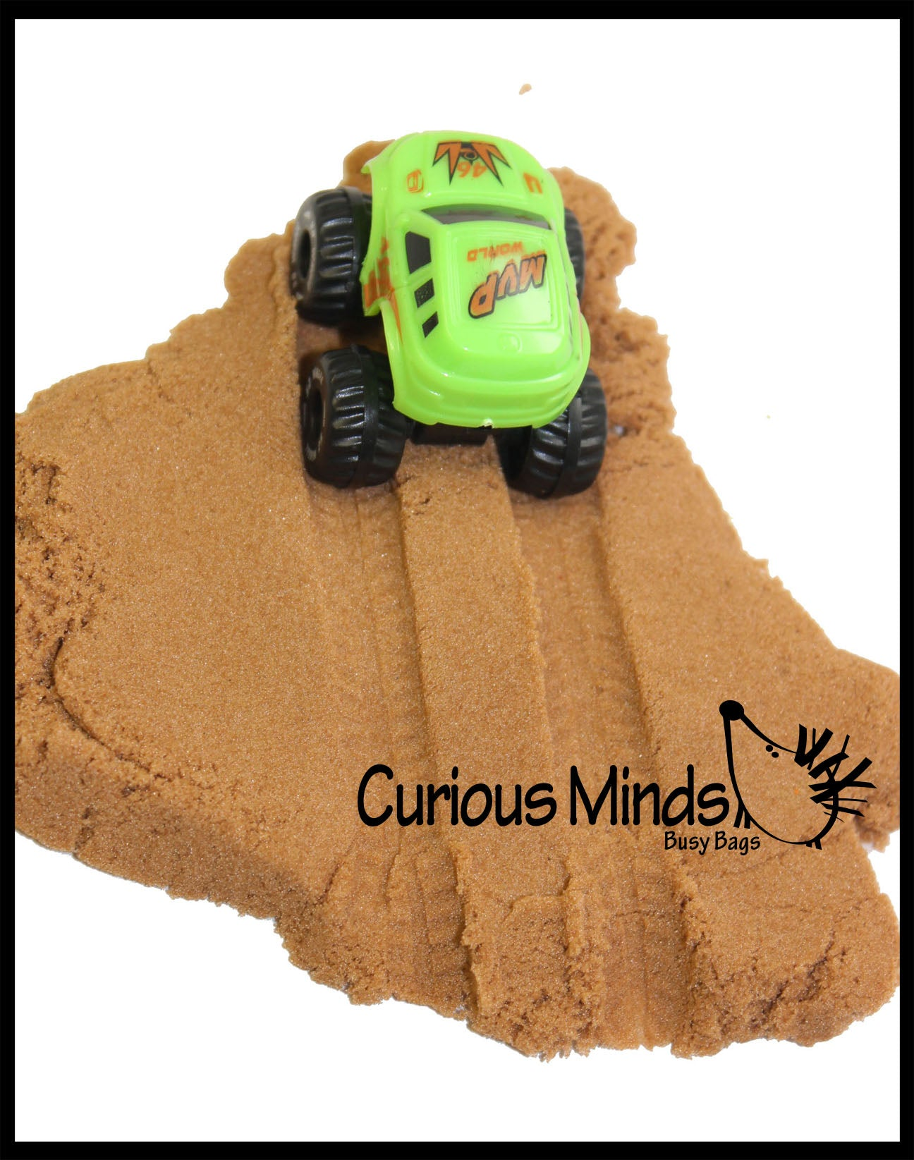 Mini Container of Play Dirt Sand and Trucks - Moving Sand