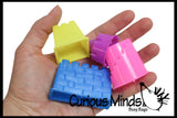 CLEARANCE - SALE - Mini Sand Castle Molds - Sand Sculpting Tool Set - Play Doh - Moving Sand