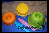 Bakery Shop Sand Play Set - cake, doughnut sand molds