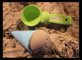 Ice cream cone and scoop sand molds