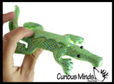 5 Reptile Set -  Sand Filled Animal Toy - Snake, Turtle, Lizard, Alligator, Frog - Heavy Weighted Sandbag Animal Plush Bean Bag Toss - Shimmering Glitter