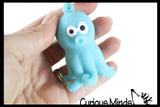 Mini Sand Filled Octopus Squishy - Moldable Sensory, Stress, Squeeze Fidget Toy ADHD Special Needs Soothing