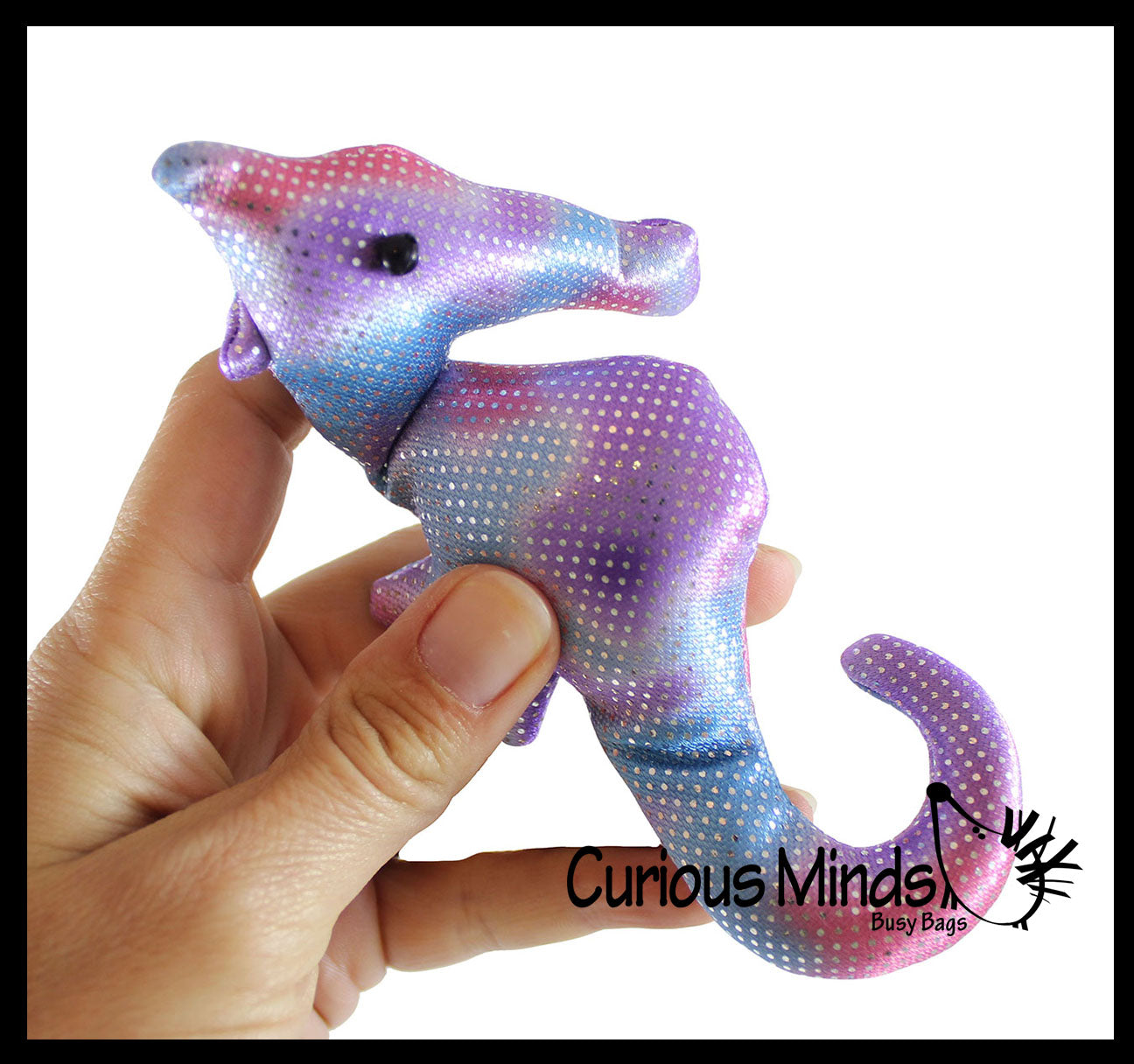 Sand Filled Stuffed Animals, Seahorse Sand Filled Animal Toy Heavy Weighted Sandbag Animal Plush Curious Minds Busy Bags