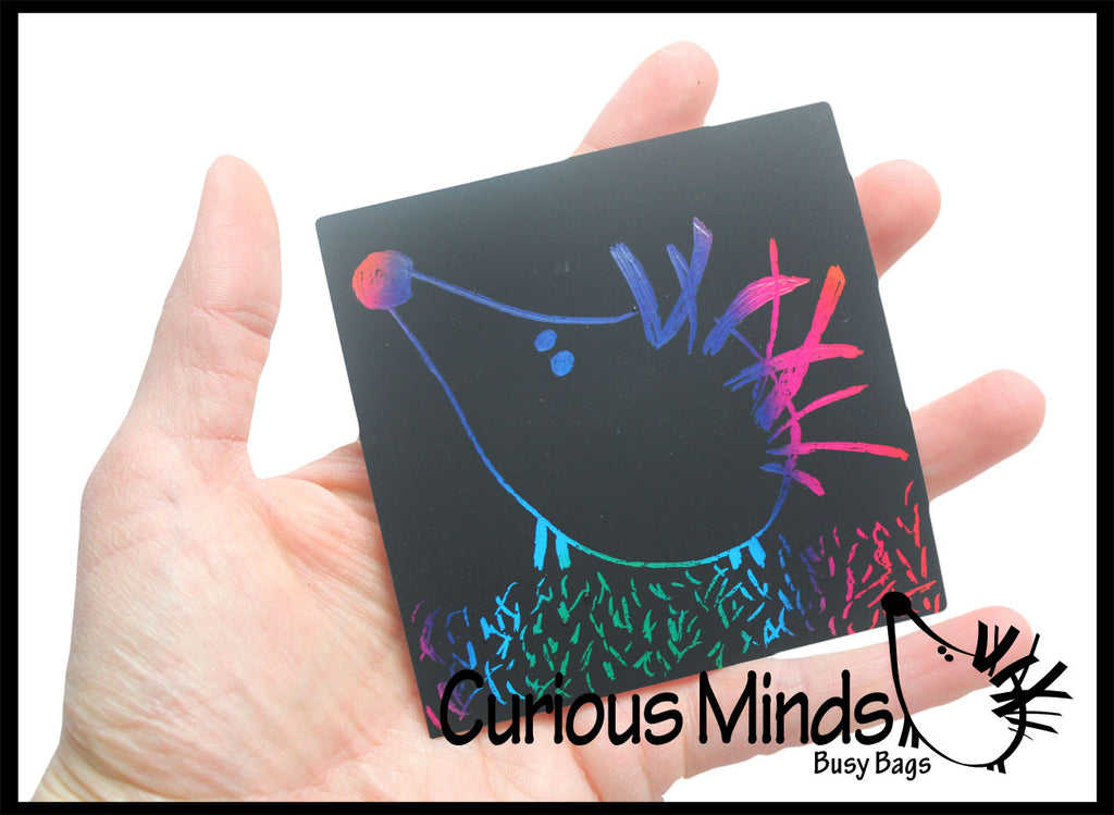 Rainbow Scratch Art Memo Pad - 125 Pages!