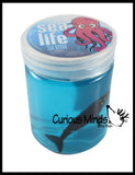 Sea Animal Slime - Fun Slime with Sea Life Ocean Figurines - Putty - Goo