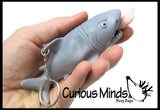 Shark Attack Novelty Key Chain  -  Sensory, Stress, Fidget Toy