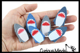 Shark Jaws Large Adorable Erasers - Novelty and Functional Adorable Eraser Novelty Treasure Prize, School Classroom Supply, Math Counters - Sorting - Party Favor